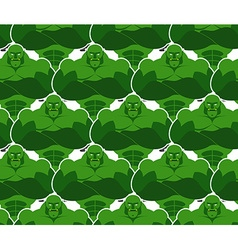 Green monsters seamless pattern evil and powerful vector
