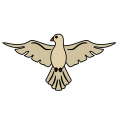 holy spirit dove symbol peace vector image