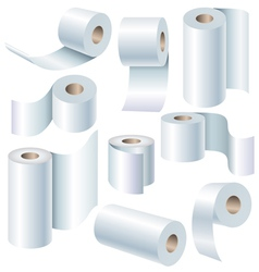 Paper roll set vector image vector image