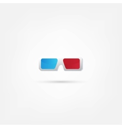 3d glasses icons vector image vector image
