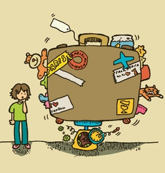 excess baggage vector image