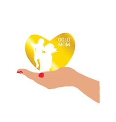 gold mom in hand vector image