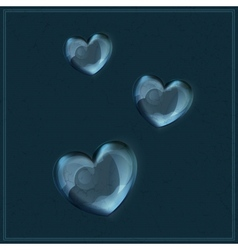 Heart made of glass on grunge background vector image vector image