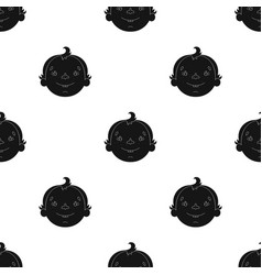 son icon in black style isolated on white vector image