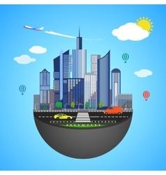 Urban earth concept vector image vector image
