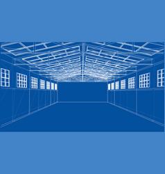 warehouse sketch rendering of 3d vector image