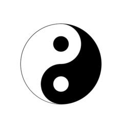 Yin Yang Icon Religion symbol vector image