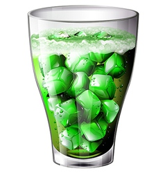 A glass of cocktail vector