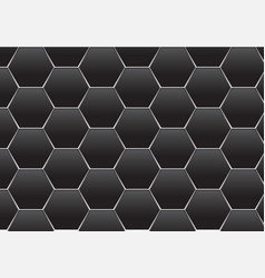 Abstract dark gray hexagon silver line mesh vector
