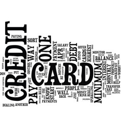 Are you worried about credit card debt text vector