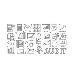 audit concept business vector image