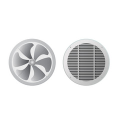 axial fan and ventilation grille vector image