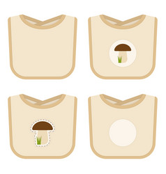 Baby bib set isolated vector