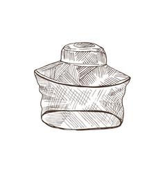 Beekeeper net sketch vector