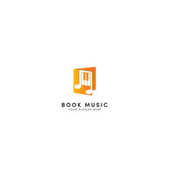 book music education logo design vector image
