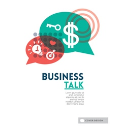 Business talk bubble speech concept vector image