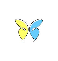 Butterfly logo design vector