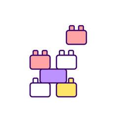 children puzzle rgb color icon vector image