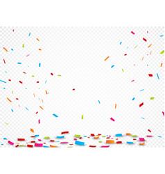 colorful ribbon and confetti vector image
