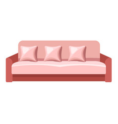 Contemporary sofa with cushions comfy furniture vector