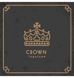 Crown logotype vector image