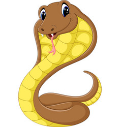Cute cobra snake cartoon vector