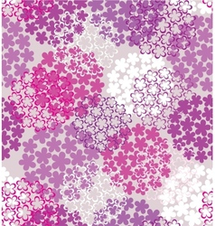 Decorative seamless flower vector image