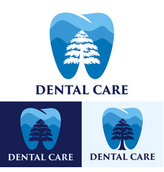 dental care logo vector image