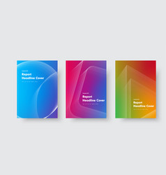 design minimalistic covers with gradient vector image