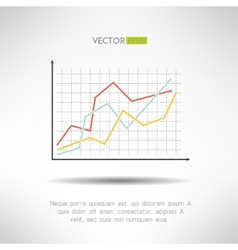 Economic finance graphics chart icon Market sale vector image