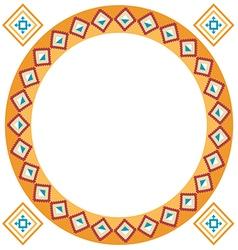 Ethnic classic border rounder designs vector image