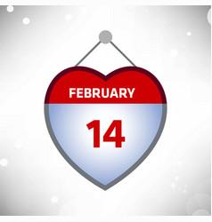 February 14 calender card vector