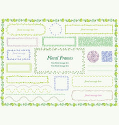 Floral frame deliicate 1 vector