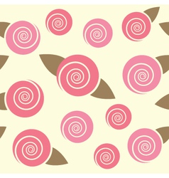 floral seamless pattern with roses vector image