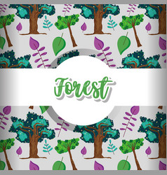 forest pattern background vector image