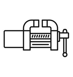Garage vice icon outline style vector