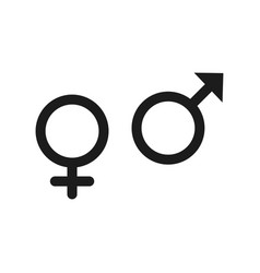 gender icon in trendy flat style isolated on grey vector image