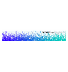 geometric horizontal background with colorful vector image
