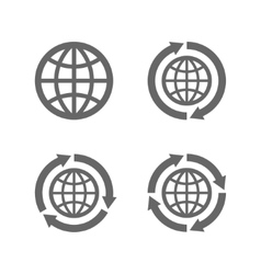 globe earth icons as a symbol travelling vector image