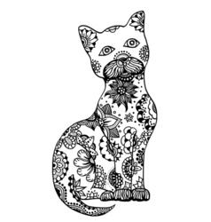 Hand drawn cat vector image