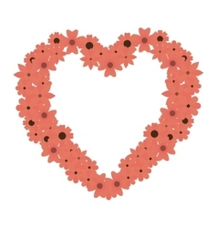 Heart love flowers border vector