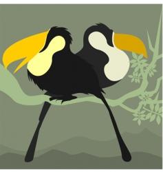 hornbills vector image