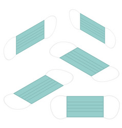 isometric flat protective medical face mask vector image