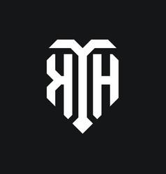 Kh logo monogram design template vector