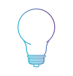light bulb icon in color gradient silhouette from vector image