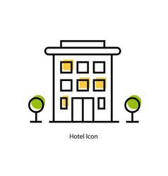 Line icon - hotel icon vector