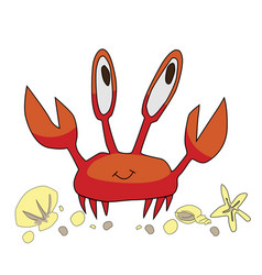 little crab vector image