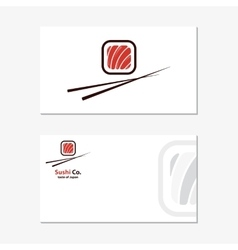 Logo design element Sushi roll japan vector