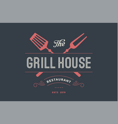 Logo of grill house restaurant vector