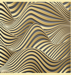 luxury gold background wavy gold landscape vector image